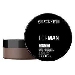 Мужской воск для волос с пластичным эффектом, 100 мл - Selective Professional Shaper - Селектив