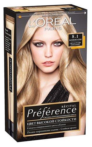 L'Oreal Paris Preference Краска для волос тон 8.1 копенгаген 40мл - Лореаль Преферанс