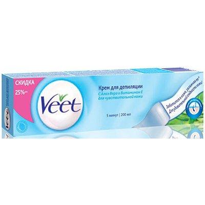 Крем для депиляции для чувствительной кожи 200мл - Veet