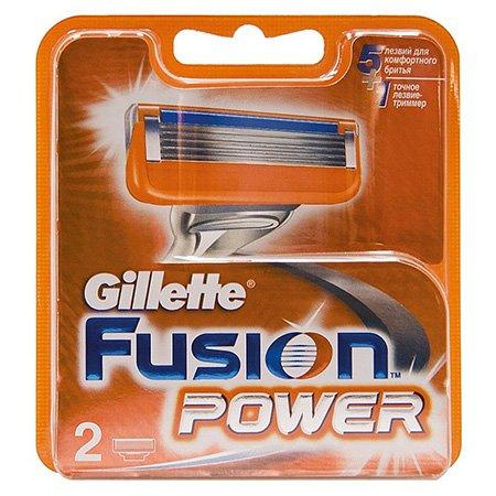 Gillette Fusion Power Сменные кассеты для бритья 2 шт