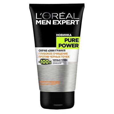 Скраб для лица Пюр Пауэр 150мл - LOreal Paris  Men Expert - Лореаль