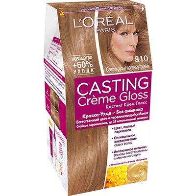 Крем-краска для волос тон 810 перламутровый русый - L'Oreal Paris Casting Creme Gloss - Лореаль