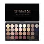 Makeup Revolution Ultra 32 Shade Eyeshadow Palette Flawless - Палетка теней 32 оттенка, 20 г